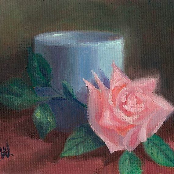 Rose with Blue Cup
